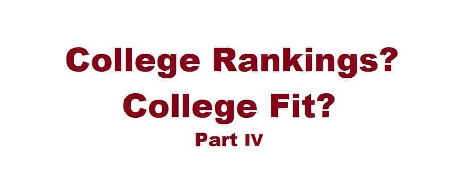 Rankings vs. Fit Part IV