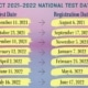 ACT National Test Dates '21-'22